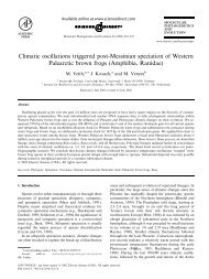 Climatic oscillations triggered post-Messinian speciation of Western ...