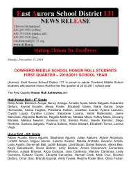 Cowherd Honor Roll - East Aurora School District #131
