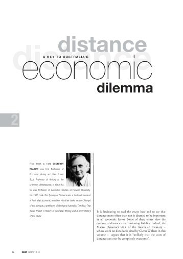 Download Professor Geoffrey Blainey's essay Distance - Ceda