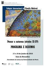 Resumos - Instituto de Filosofia - Universidade do Porto