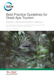 Best Practice Guidelines for Great Ape Tourism - IUCN