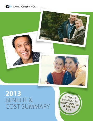 2013 Benefits and Cost Summary