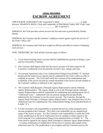 Exhibit F Form of Post-Closing Escrow Agreement - Psc-trust.com