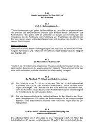 TV-L Sonderregelungen 2