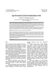 Ege Üniversitesi Su Ürünleri Fakültesi Mezun Profili - Journal of ...