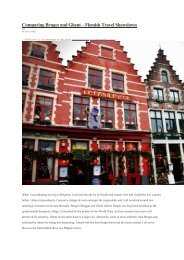 Comparing Bruges and Ghent – Flemish Travel Showdown - Visit Gent