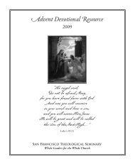 Advent Devotional Resource - San Francisco Theological Seminary