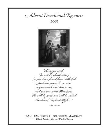 Advent Devotional Resource - San Francisco Theological Seminary