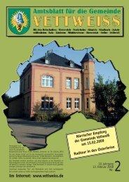 (0 24 65) 10 30 Telefax (0 24 65) - Gemeinde Vettweiss
