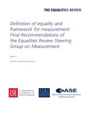 Definition of equality and framework for measurement