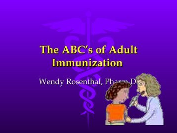 The ABC's of Adult Immunization - Free CE Continuing Education ...