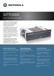 MTR3000 Base Station/Repeater Specifications - Radiotelefony ...