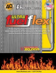 UltraFuel Flex UL-536 Gas/Fuel Connectors - Flex-Hose Co Inc