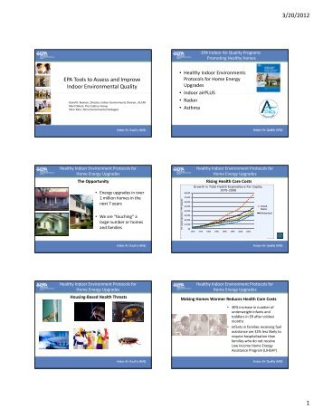 Handout - 6 slides per page - Maine Indoor Air Quality Council