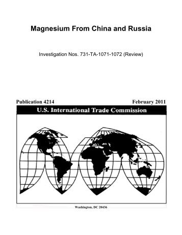 Magnesium from China and Russia - USITC
