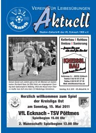 VfLAktuell_14_10/11 - VfL Ecknach