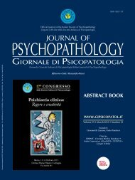 Sessione Posters - Journal of Psychopathology