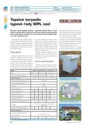 Tepelné čerpadlo typové řady WPL cool - Stavebnictví a interiér