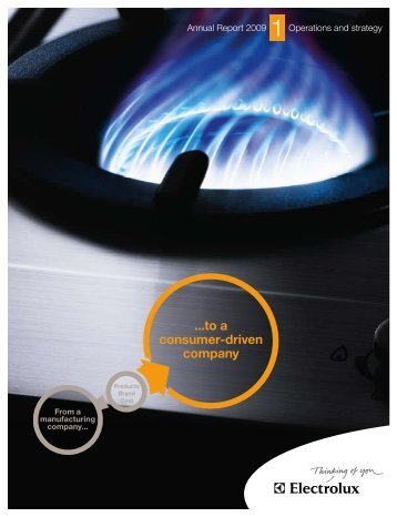 Electrolux Annual Report 2009 | Operations and strategy