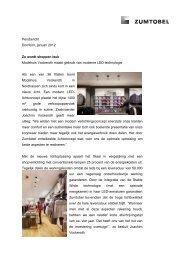 Persbericht Dornbirn, januari 2012 Zo wordt shoppen leuk - Zumtobel