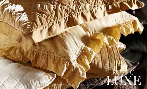 Pottery Barn fall Preview 2012