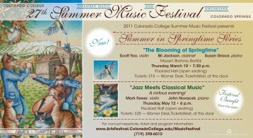 27th SummerMusicFestival - Colorado College