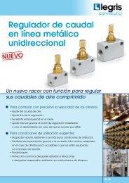 Regulador de caudal en línea metálico unidireccional - Lehengoak