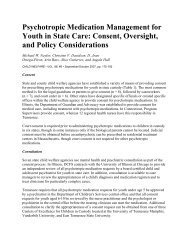 Psychotropic Medication Management for Youth in State Care ...