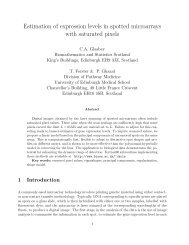 Estimation of expression levels in spotted microarrays with saturated ...