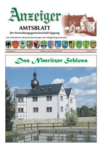 gemeinde nimritz - Verwaltungsgemeinschaft Oppurg