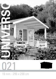 19 mm - 296 x 296 cm - Gartenhaus-wohnkultur.de
