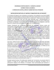 EXPOSICIÓN DE MOTIVOS LEY SERVICIO COMUNITARIO DEL ...