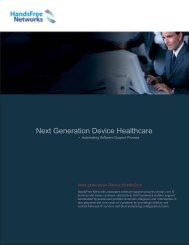Next Generation Device Healthcare Overview - HandsFree Networks