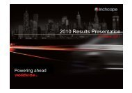 2010 Results Presentation - Inchcape