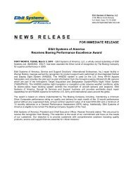 Elbit Systems of America® Receives Boeing Performance ...