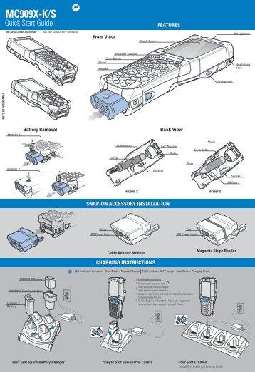 MC909X-K/S Quick Start Guide (p/n 72-72220-02 Rev A)