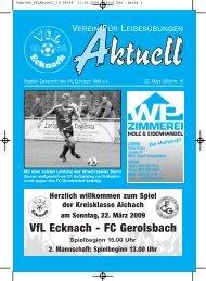 86551 Aichach Telefon 0 82 51/ 10 80 · Fax 0 82 51 - VfL Ecknach