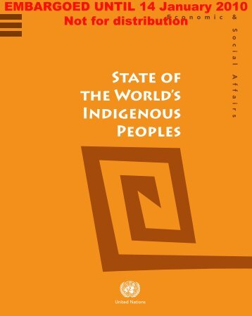 STATE OF THE WORLD's INDIGENOUs PEOpLEs - CINU