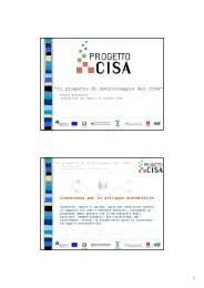 """""""Il progetto di monitoraggio del CISA"""" - Centro CISA"""