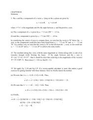 CHAPTER III Solutions 3. The x and the y components of a vector ...