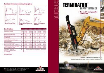 Terminator impact hammer mounting options - In-site