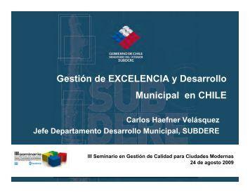 Gestión de EXCELENCIA y Desarrollo Municipal en CHILE