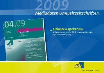 Mediadaten Umweltzeitschriften - altlasten spektrum