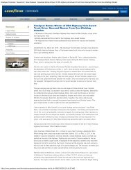 Goodyear Corporate | Newsroom | News Releases - Panther Expedite
