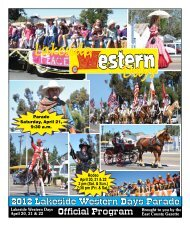 2012 Lakeside Western Days Parade - East County Gazette