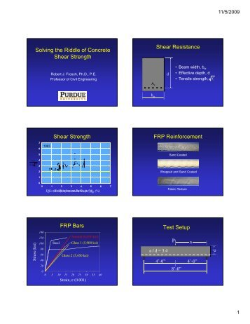 Solving the Riddle of Concrete Shear Strength Shear ... - SEAoT