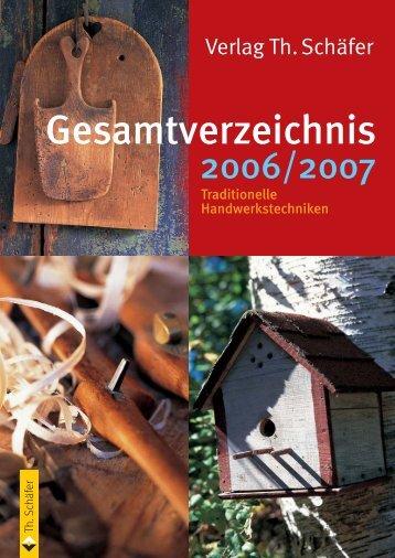 Gesamtverzeichnis - Verlag Th. Schäfer