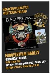 Vendredi 11 mai - HOG Geneva Chapter West Switzerland