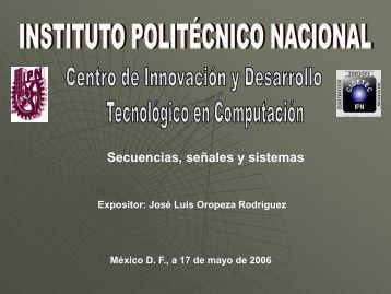 Secuencias, señales y sistemas - José Luis Oropeza