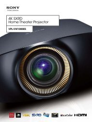 4K SXRD Home Theater Projector - Sony Professional Solutions ...